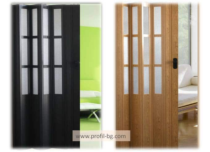 Harmonica folding doors - PVC 3