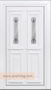 Front doors with decorative thermo panel 22