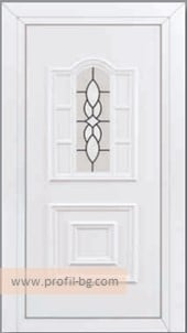 Front doors with decorative thermo panel 24