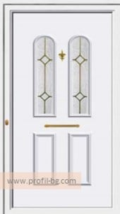 Front doors with decorative thermo panel 20