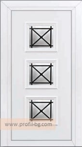 Front doors with decorative thermo panel 26