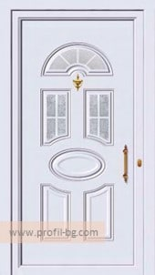 Front doors with decorative thermo panel 29