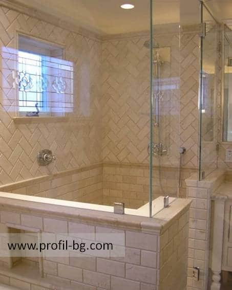 Glass shower cabin and glass shower enclosure 43