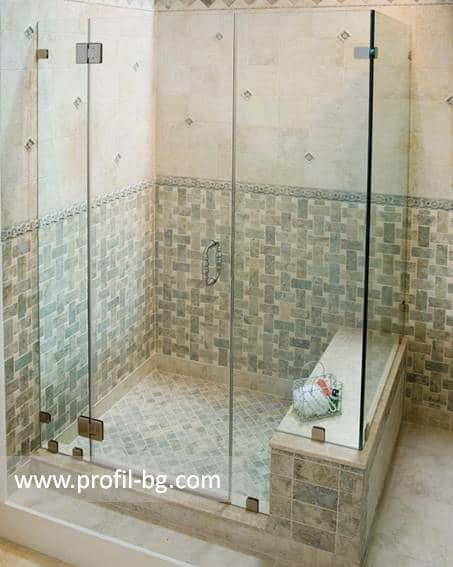 Glass shower cabin and glass shower enclosure 44