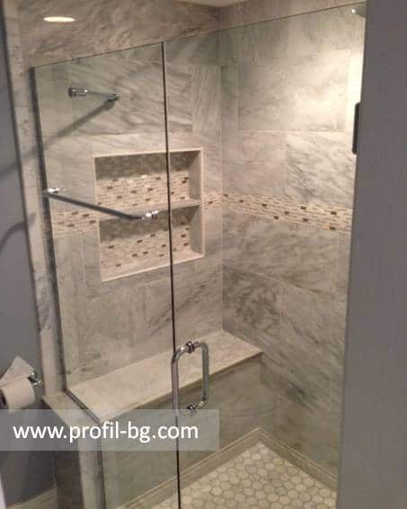Glass shower cabin and glass shower enclosure 46