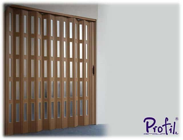 Harmonica folding doors - PVC 1