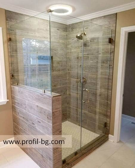 Glass shower cabin and glass shower enclosure 10