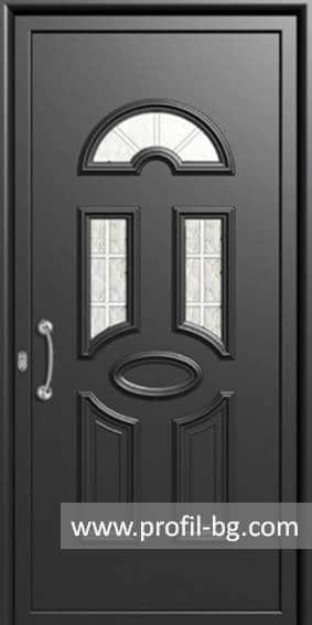 Front doors with decorative thermo panel 9