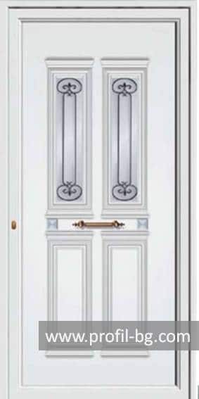 Front doors with decorative thermo panel 4