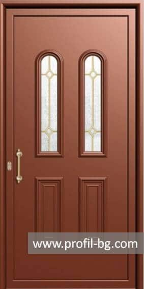 Front doors with decorative thermo panel 6