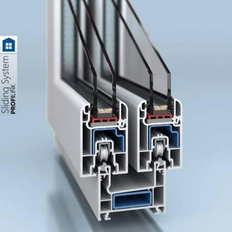 PVC window and door system PROFILINK 11