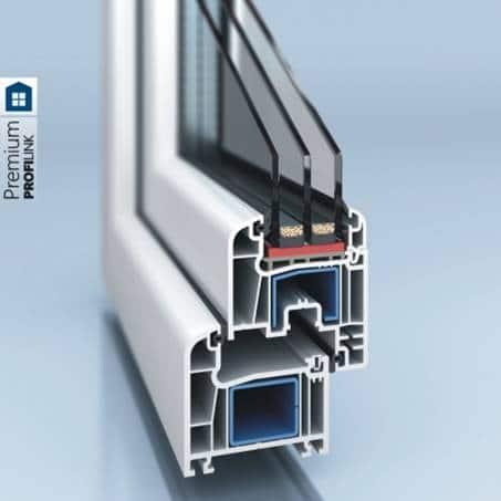 PVC window and door system PROFILINK 7