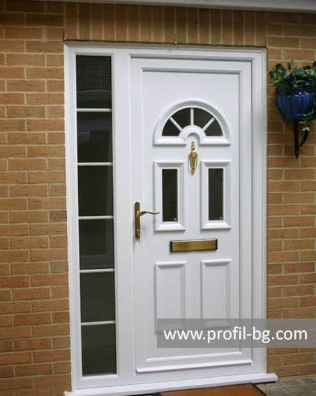 Front doors with decorative thermo panel 37