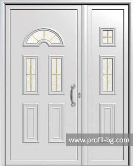 Front doors with decorative thermo panel 10