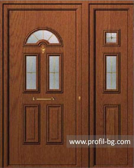 Front doors with decorative thermo panel 11