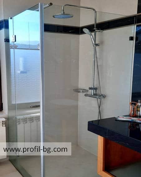 Glass shower cabin and glass shower enclosure 51