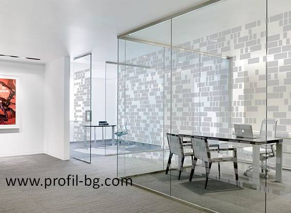Glass doors and partitions 36
