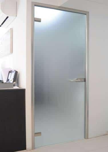 New product: interior glass door with aluminium frame 2