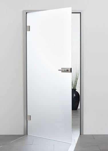 New product: interior glass door with aluminium frame 3