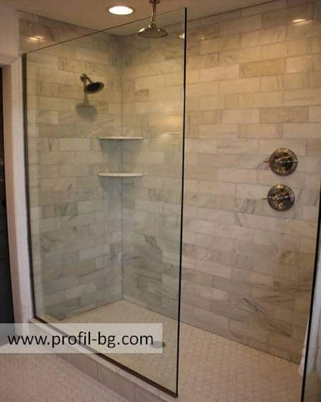Glass shower cabin and glass shower enclosure 54